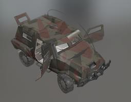 us car military vehicle 3D asset