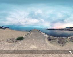HDRI Environment sea at sunset 3D