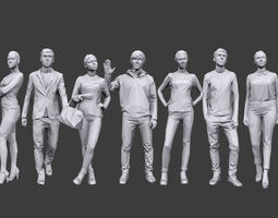 3D model Lowpoly People Casual Pack Volume 11