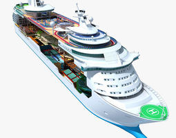 Mariner of the Seas Cruise Cutaway 3D