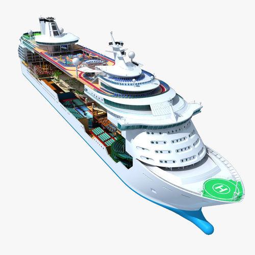 Mariner of the Seas Cruise Cutaway3D model