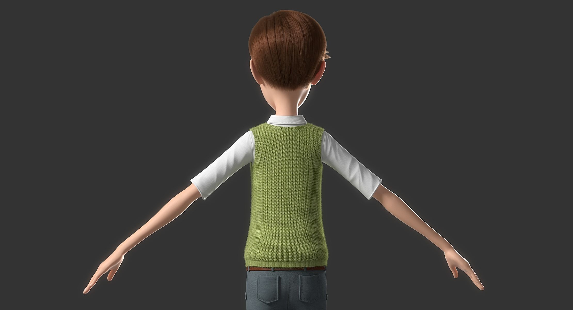 cartoon man norig 3d model obj fbx ma mb mtl 12