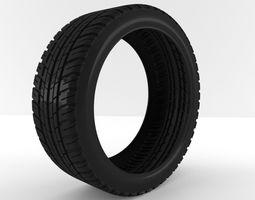 Car tire 3D
