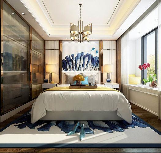 Stylish master bedroom design 11 3D model | CGTrader on New Model Bedroom Design  id=54820