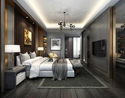 Stylish master bedroom design 35 3D