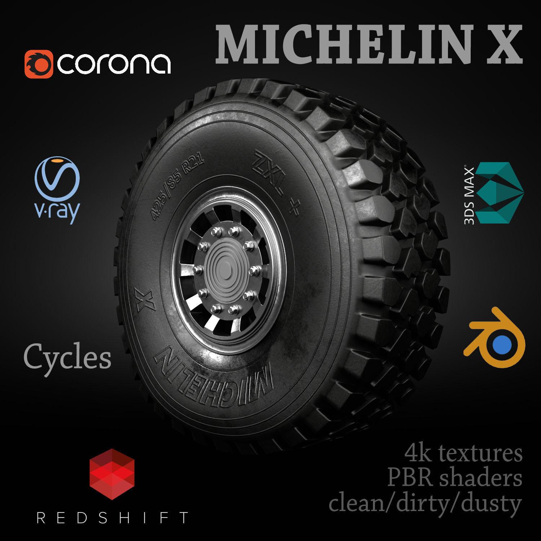 MICHELIN X OFFROAD WHEEL CLEAN DIRTY DUSTY