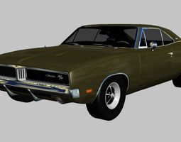 3D asset 1969 Dodge Charger R-T-SE