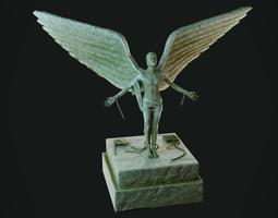 Free Man Statue 3D asset VR / AR ready