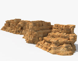 3D model concrete Desert Rock