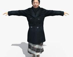 Asian Woman 02 3D Model