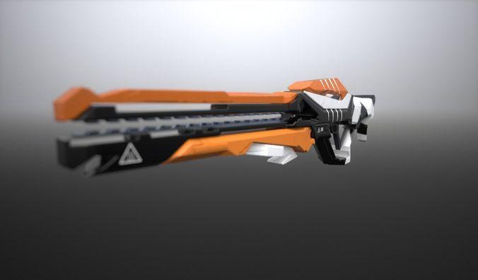 the gun free 3d model fbx 1