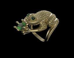 frog ring 3D printable model