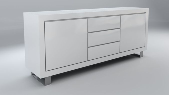 3d model of ikea alexia buffet 3d model max - Buffet metallique ikea ...