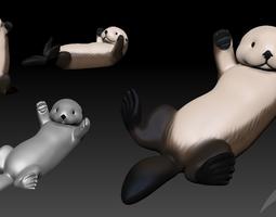 Sea Otter 3D Print Model STL and VRML