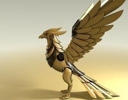 3D animated Mechanical Phoenix