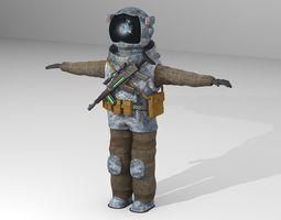 3D Post-apocalyptic Astronaut