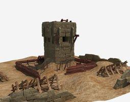 desert guard tower 3d model