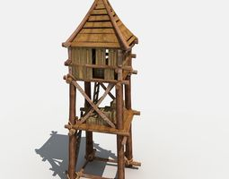 guard tower 3d