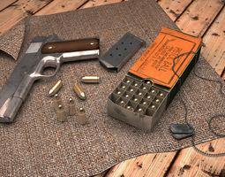 3d asset colt 1911 game-ready