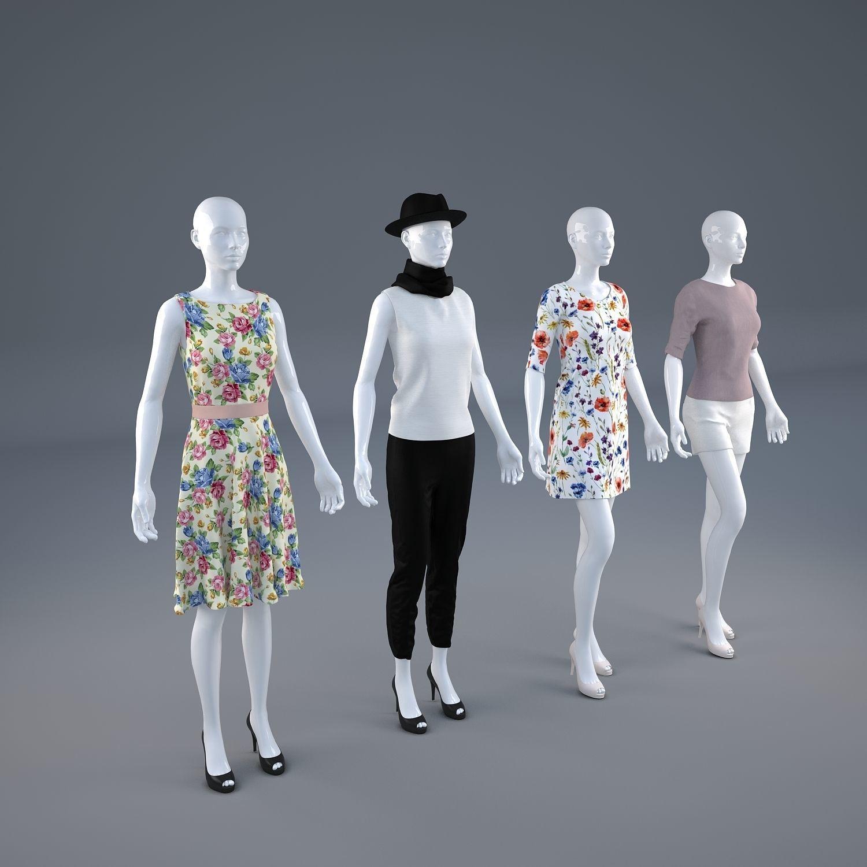Mannequin Woman Cloth Model For Shop vol1