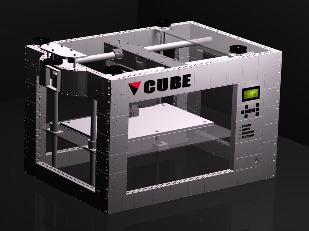 Cube The 3d Printed 3d Printer Free 3d Model 3d Printable
