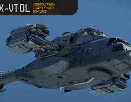 CH53X VTOL 3D asset