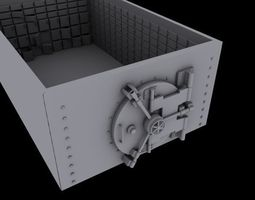 Safe 3d model rigged low-poly