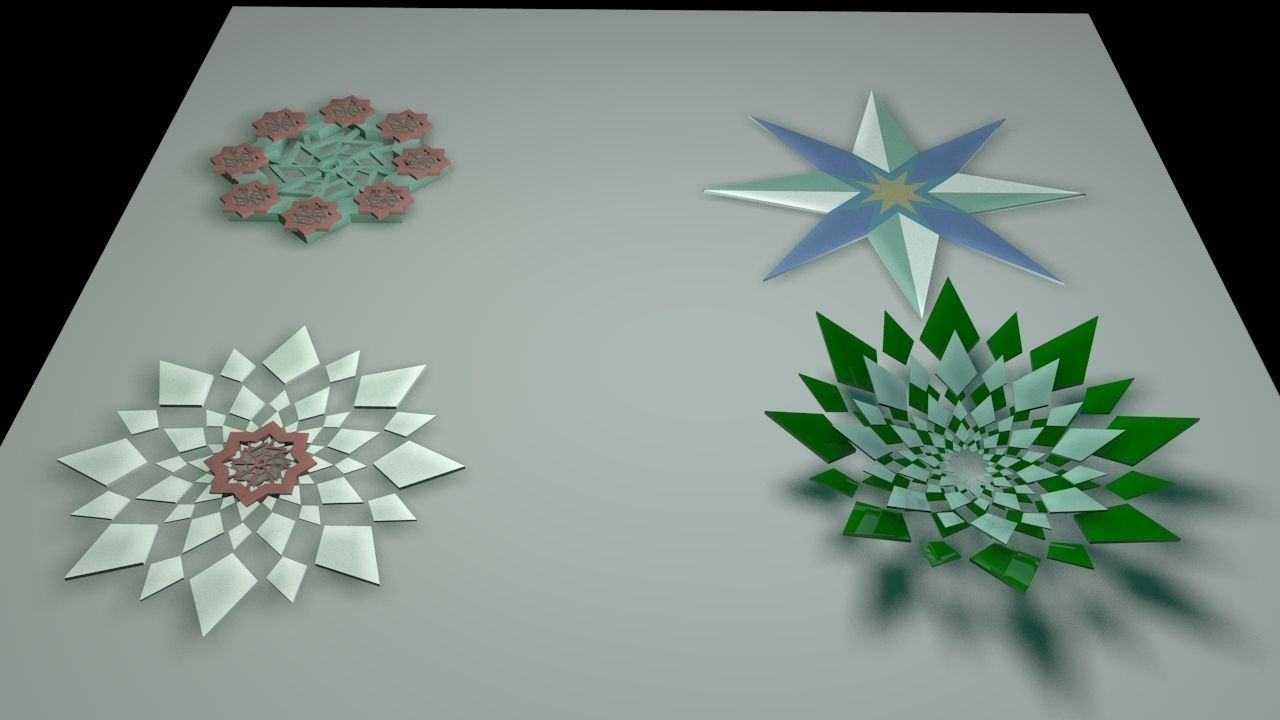 3d Model Islamic Geometry Flower Cgtrader