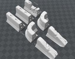 Concrete Barriers 3D printable model
