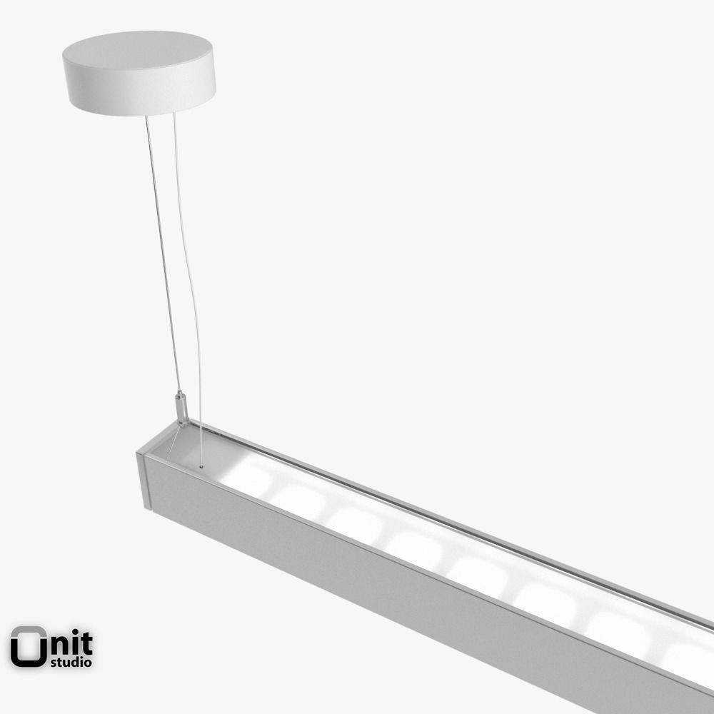 zumtobel lincor pendant led luminaire 3d model max obj. Black Bedroom Furniture Sets. Home Design Ideas