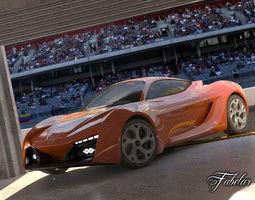 Hyunday Passocorto + Garage 3D Model
