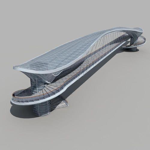 Pedestrian Bridge 3d Model Max Obj Fbx Cgtrader Com