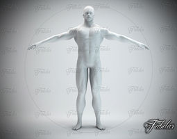 Male body Std Mat 3D Model