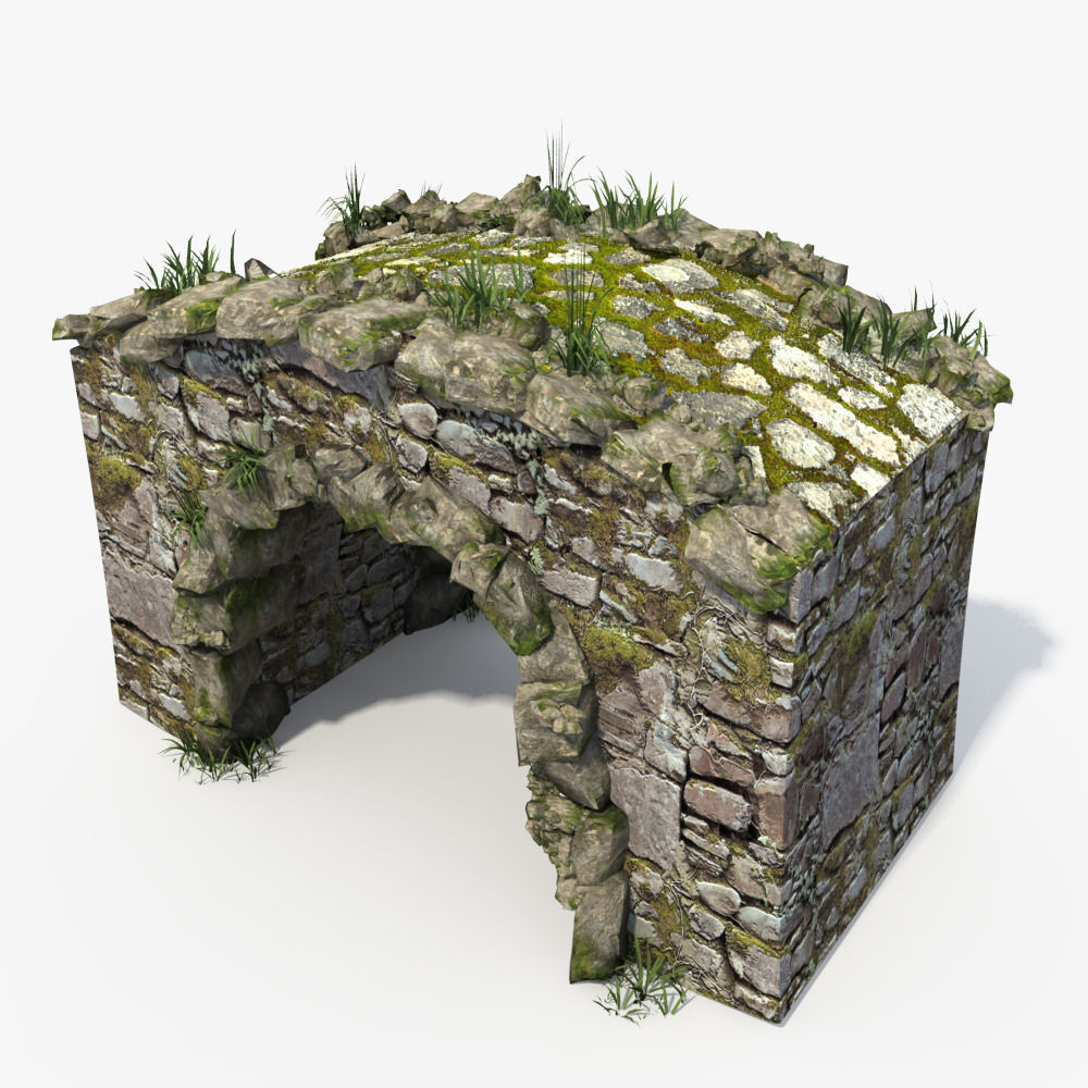 Stone Bridge 3d Model Max Obj Fbx Cgtrader Com