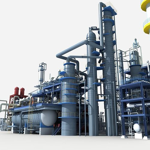 refinery 3d model max obj mtl fbx stl 1