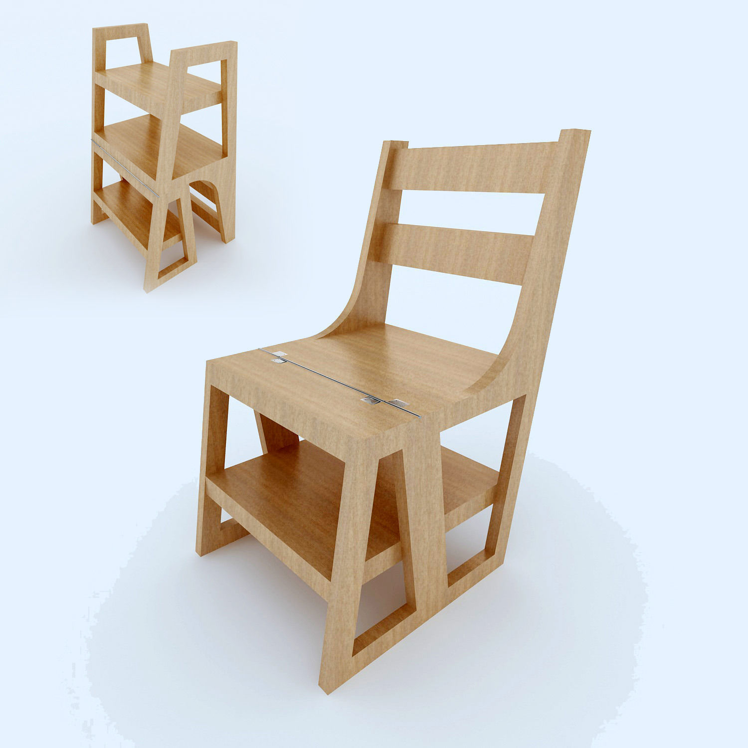 Nice Chair Stair Convertible 3d Model Max 1 ...