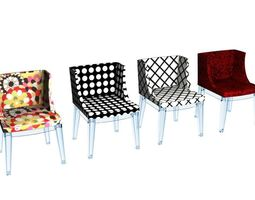 Kartell Mademoiselle Chairs Collection 3D model