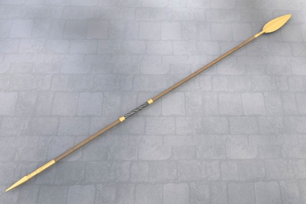 3d Model Ancient Greek Spear 3d Model Obj Fbx Blend