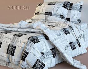 Double Bed Bed Linen 3D model