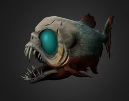 Scary Fish 3D model
