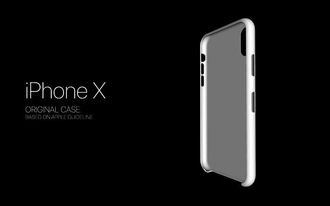 iphone x original case model 3d model stl 1