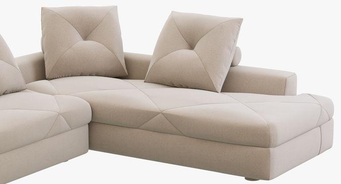 Modulares Sofa 3d roche bobois preface modular sofa cgtrader