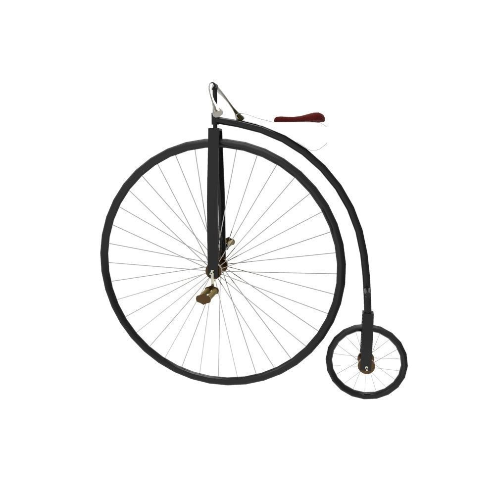 3D model Penny farthing VR / AR / low-poly FBX MA MB