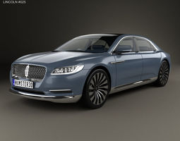 3D model Lincoln Continental with HQ interior