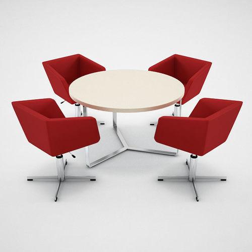Narbutas Meg Chair Plana Table 3D Model