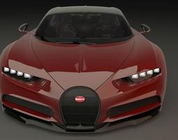 3D asset Bugatti Chiron 2017