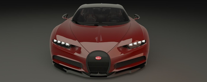 bugatti chiron 2017 3d model obj mtl 3ds fbx blend dae abc 1