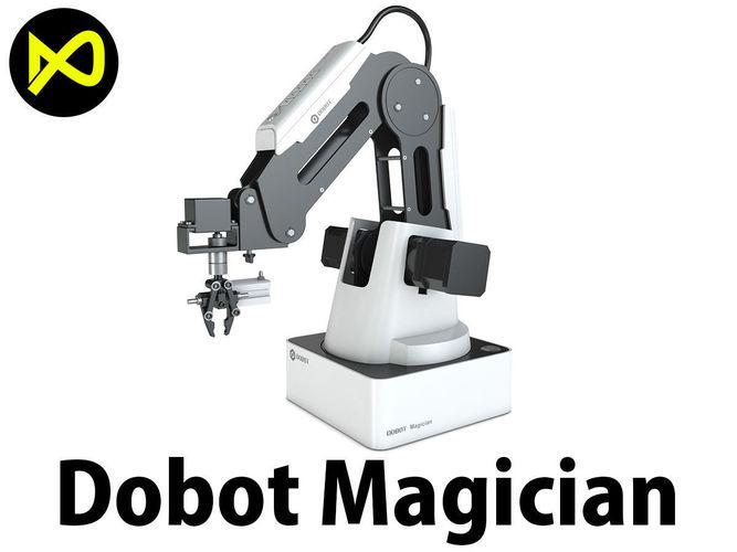 dobot magician smart robotic arm 3d model max obj mtl 3ds fbx c4d lwo lw lws 1