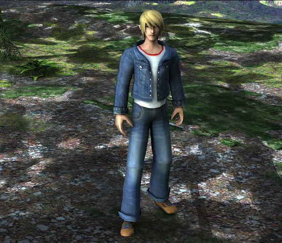 3d Model Anime Boy Vr Ar Low Poly Rigged Max Obj Mtl Fbx Ma Mb Dae X