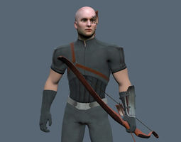 animated Archer 3D Model